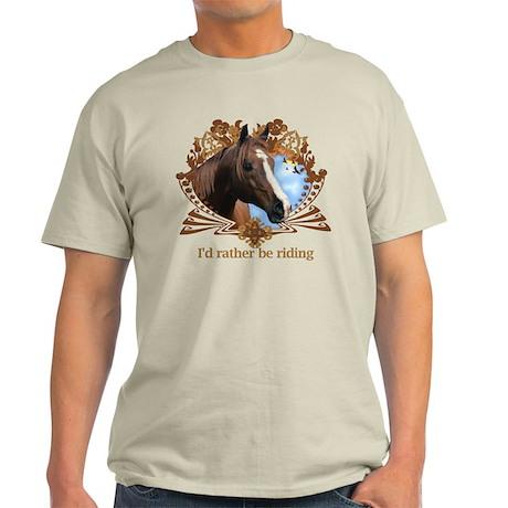 Rather Be Riding Horse Crest Light T-Shirt