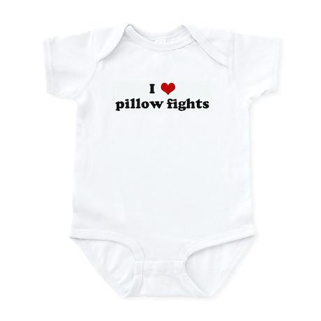 I Love pillow fights Infant Bodysuit