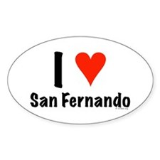 I love San Fernando Oval Decal