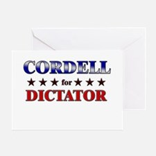 CORDELL for dictator Greeting Card
