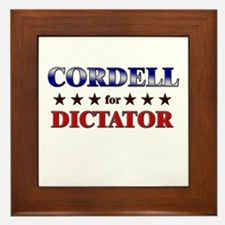 CORDELL for dictator Framed Tile
