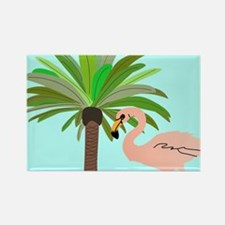 Flamingo And Palm Tree Magnets