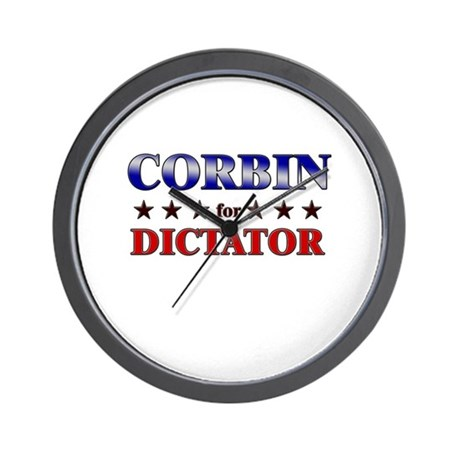 CORBIN for dictator Wall Clock