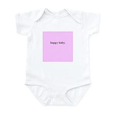 Happy Baby (Pink) Infant Bodysuit