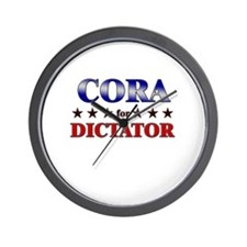 CORA for dictator Wall Clock