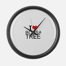 I Love Bonsai Trees Large Wall Clock