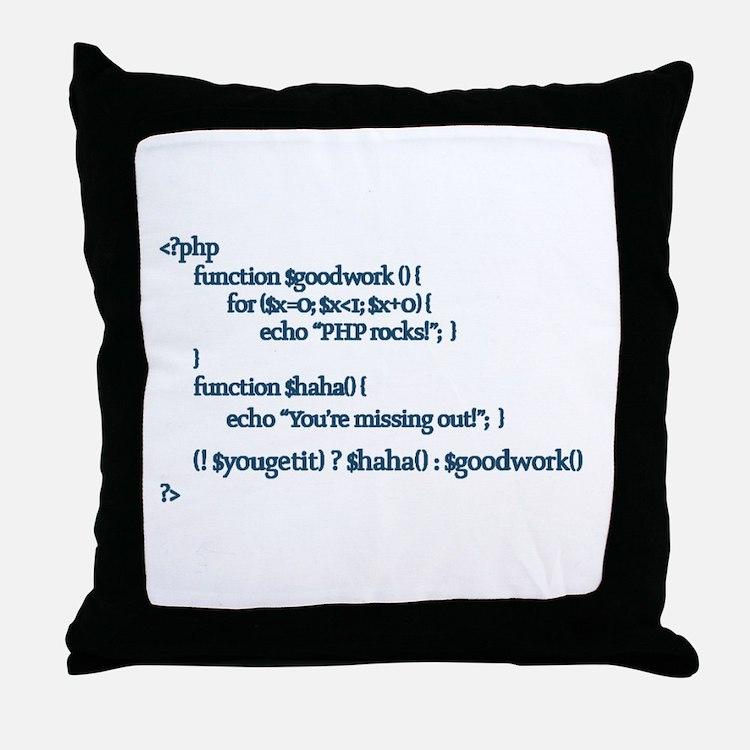 PHP Rocks! - Throw Pillow