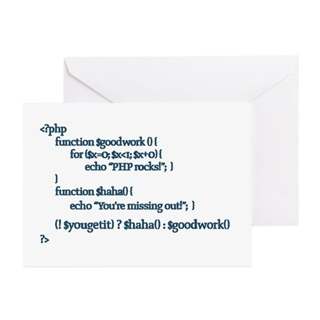 PHP Rocks! - Greeting Cards (Pk of 20)