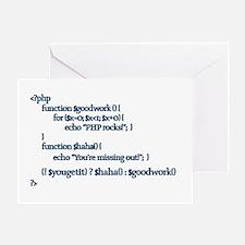 PHP Rocks! - Greeting Card