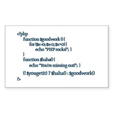 PHP Rocks! - Rectangle Decal