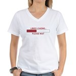 LIBIDO LOADING... Women's V-Neck T-Shirt