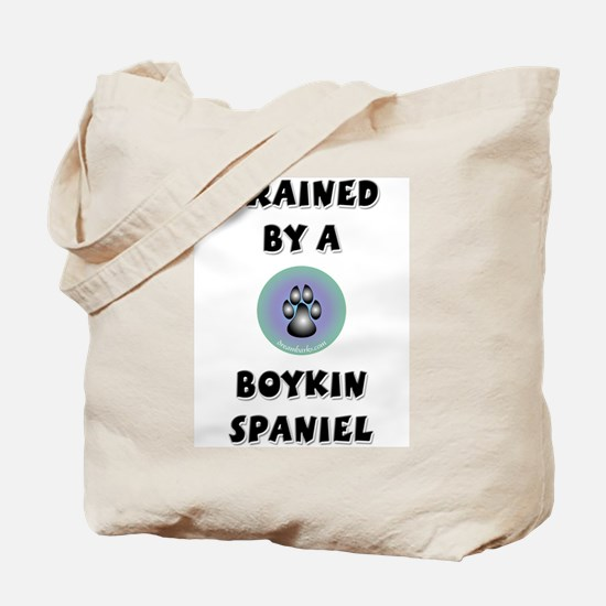 Trained by a Boykin Spaniel Tote Bag