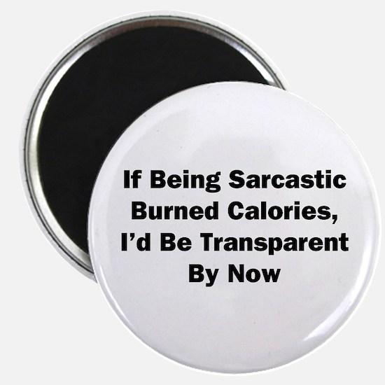 I'd Be Transparent Magnet