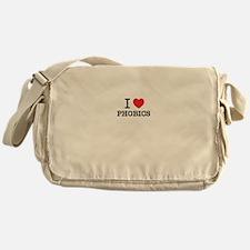 I Love PHOBICS Messenger Bag