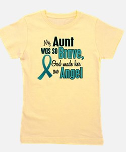I wear teal ribbon for my aunt grunge Girl's Tee
