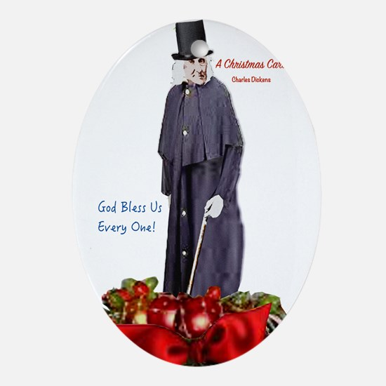 A Christmas Carol Scrooge Oval Ornament