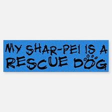 Rescue Dog Shar-Pei Bumper Bumper Bumper Sticker
