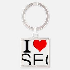 I Love SEO Keychains