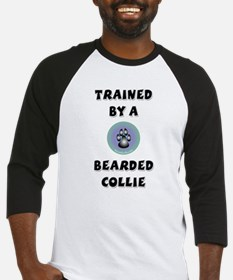 Trained by a Bearded Collie Baseball Jersey