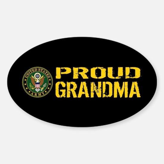 U.S. Army: Proud Grandma (Black & G Sticker (Oval)