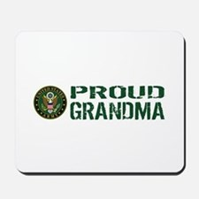 U.S. Army: Proud Grandma (Green & White) Mousepad
