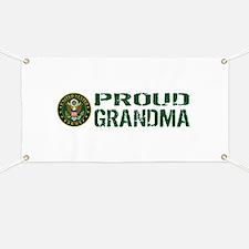 U.S. Army: Proud Grandma (Green & White) Banner