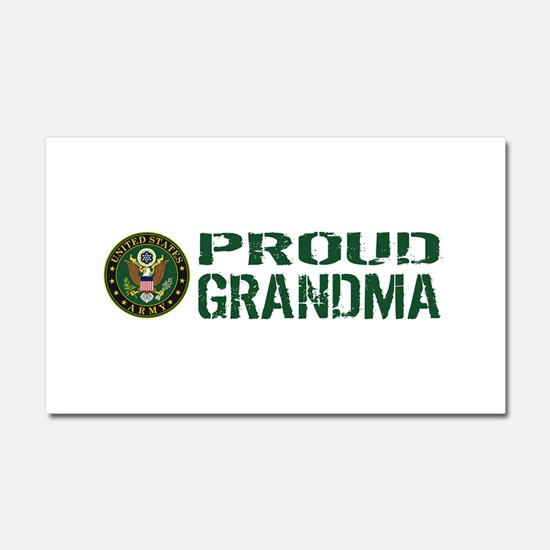 U.S. Army: Proud Grandma (Green Car Magnet 20 x 12