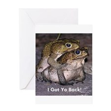 spooning-frogs-yo copy Greeting Cards
