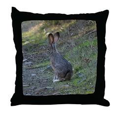 Black Tailed Jackrabbit Throw Pillow
