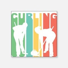 Retro Curling Sticker