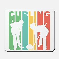 Retro Curling Mousepad
