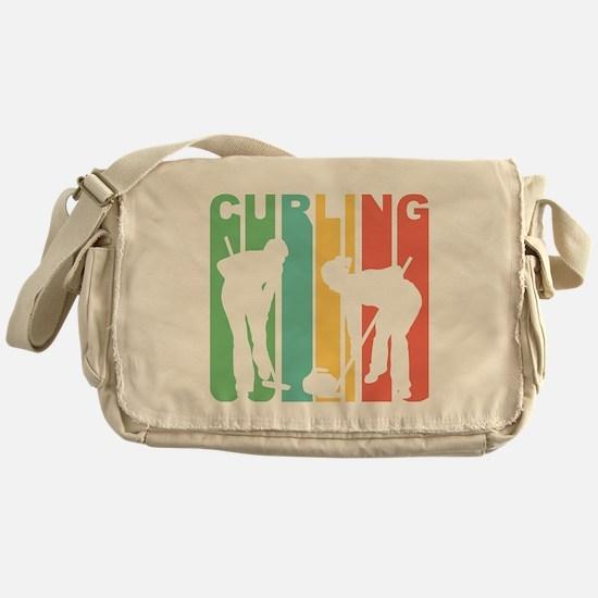 Retro Curling Messenger Bag