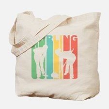 Retro Curling Tote Bag