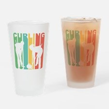 Retro Curling Drinking Glass