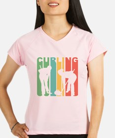 Retro Curling Performance Dry T-Shirt