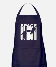Retro Space Astronauts Apron (dark)