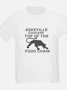 Asheville Cougar Food Chain-Black T-Shirt