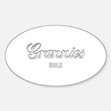 Grannies Rule Oval Decal