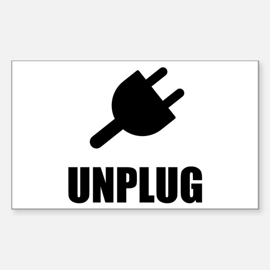 Unplug Technology Decal