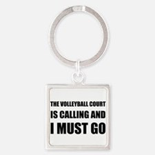 Volleyball Court Calling Must Go Keychains