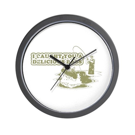 """""""I caught you a delicious bass"""" Wall Clock"""