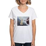 Creation / Ital Spinone Women's V-Neck T-Shirt
