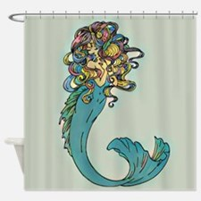 Colorful Mermaid Shower Curtain