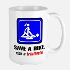 """Save a bike..."" Mugs"