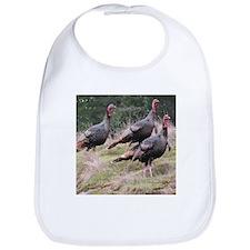 Three Tom Turkey Gobblers Bib