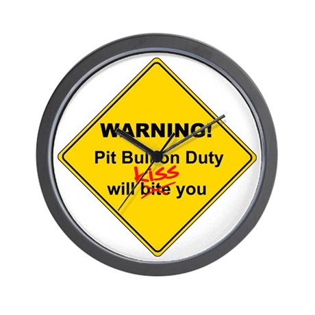 Pit Bull will KISS Wall Clock