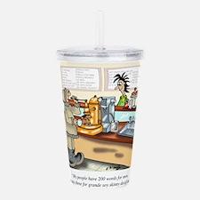 Coffee Cartoon 9391 Acrylic Double-wall Tumbler