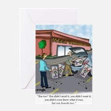 Shopping Cartoon 9392 Greeting Card