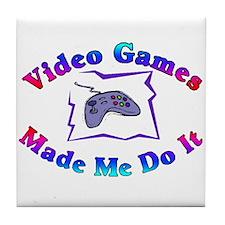 Blame The Game Tile Coaster
