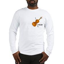 Violin Pocket Image Long Sleeve T-Shirt